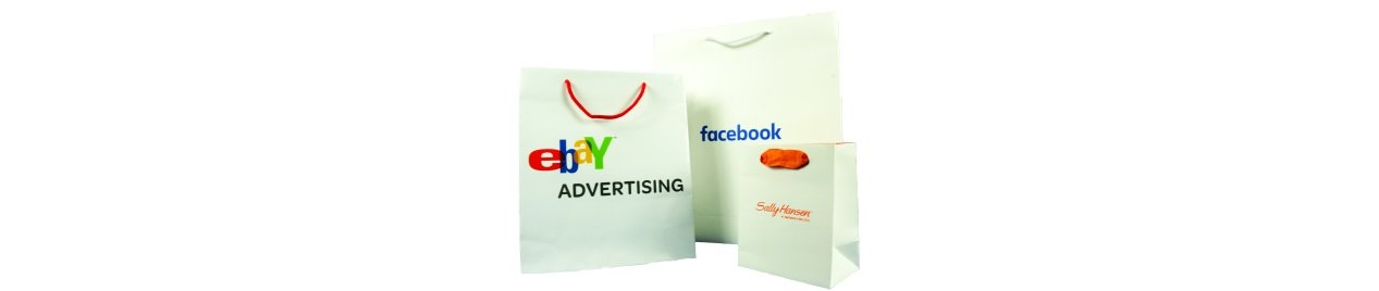 Ebay paperbags Facebook Sally Hansen paper shopper bags print