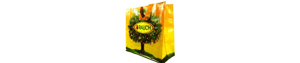 Rauch beverage company promotional bags fruit tree orange